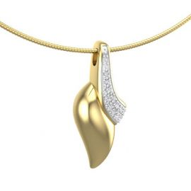 18krt bi-colour goud ashanger met diamanten