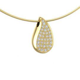Druppel ashanger met diamanten, edelstenen of lab diamanten.