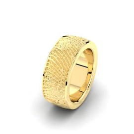 Goud of zilver vingerafdruk trouwring