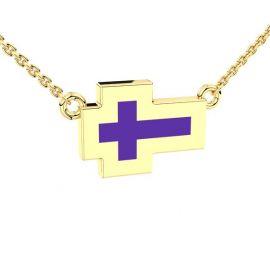 Kruis hanger met kristalhars